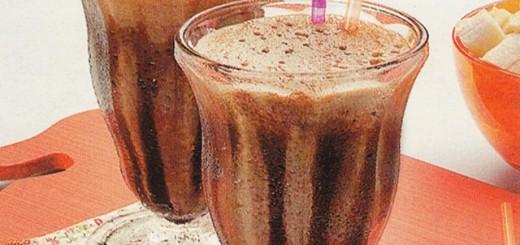 Receita de milk-shak de banana com chocolate