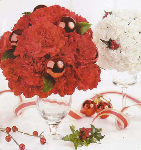 Arranjos de flores para o Natal