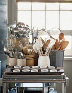 Organização de utensílios de cozinha