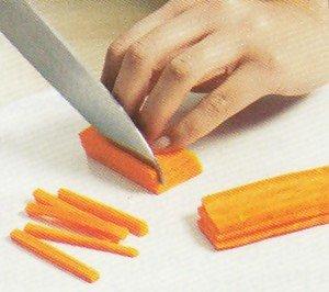 Como cortar vegetal a Julienne