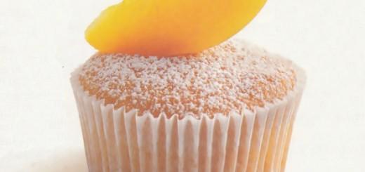 Receita de cupcake de pêssego
