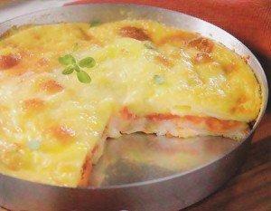 Receita de pizza de pão com recheio de mussarela