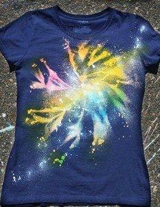Como fazer camiseta com estampa galaxy