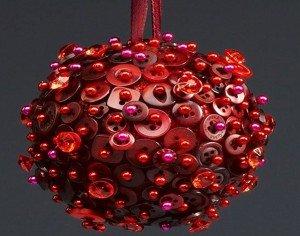 Bola decorativa de natal com botão
