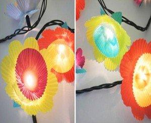 Luzes coloridas de natal