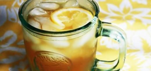 Receita de chá verde com frutas