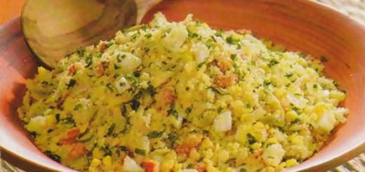 Receita de farofa com farinha de milho