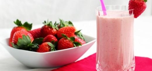 Receita de vitamina de morango