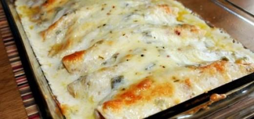 Receita de panquecas de frango gratinadas