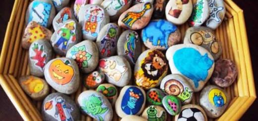 Use pedras para contar histórias