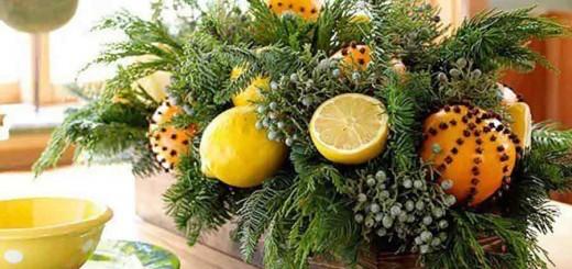 Dicas de decoração de Natal usando laranja
