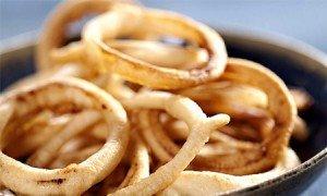 Receita de anéis de cebola