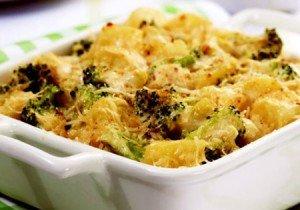 Receita de gratinado de batata e brócolis