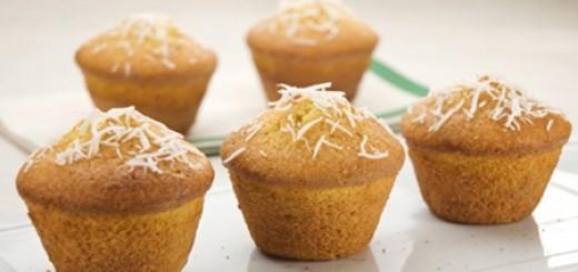 Receita de muffin de milho e coco