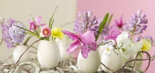 Dicas de decoração de Páscoa usando cascas de ovos
