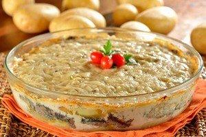 Receita de gratinado de batata com sardinha