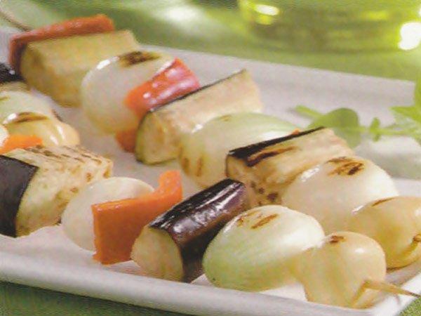 REeceita de espetinho vegetariano