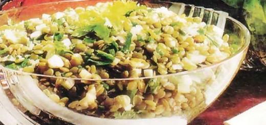 Receita de salada de lentilha