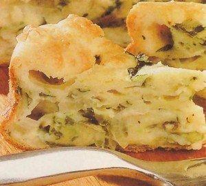 Receceita de torta cremosa de chicória