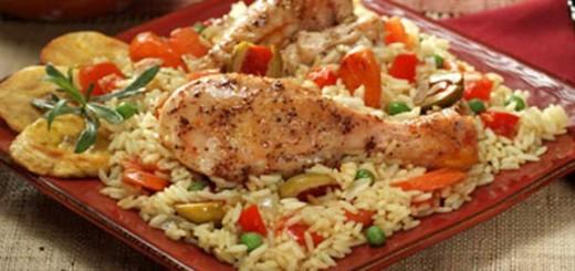 Receita de arroz com frango