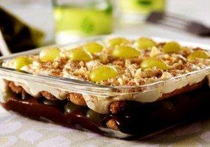 Receita de pavê de uva e chocolate