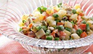 Receita de salada de vegetais
