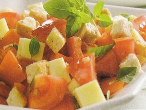 Receita de salada de tomate e mussarela