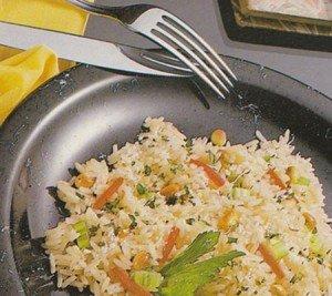 Receita de arroz com legumes