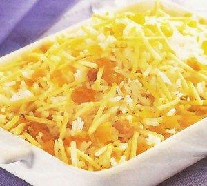 Receita de arroz dourado