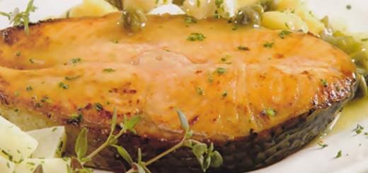 Receita de salmão ao molho de alcaparras