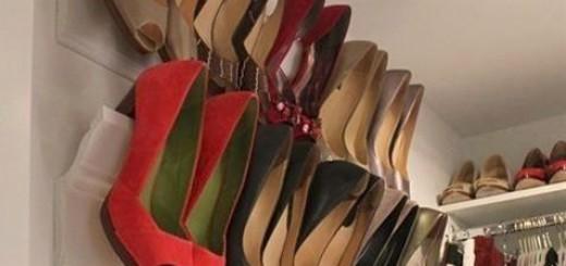 Ideias de organização de sapatos