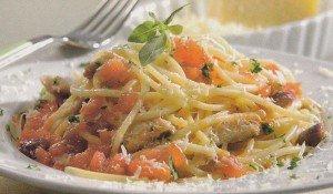 Receita de espaguete com molho de sardinha