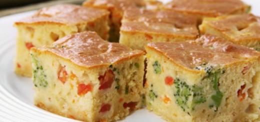 Receita de torta de liquidificador com legumes e queijo