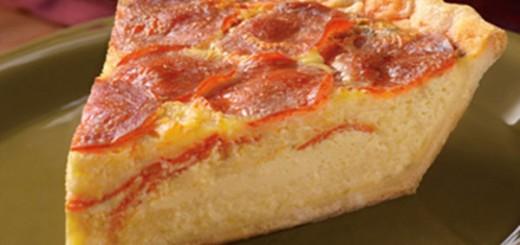Receita de torta quiche de pepperoni