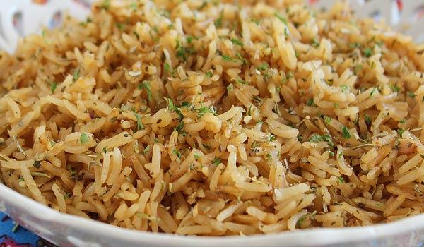Receita de arroz com cebola refogada