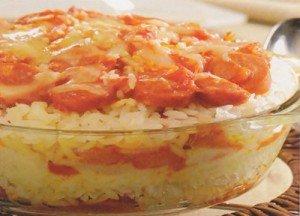 Receita de arroz de forno com salsicha