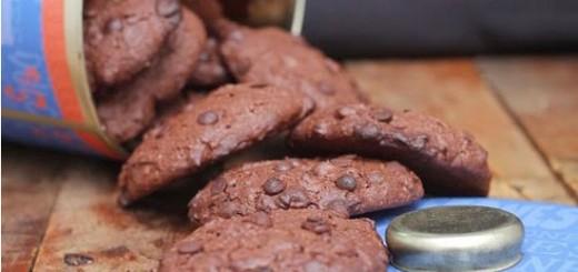 Receita de cookies de chocolate