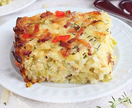 Enformado de arroz com abobrinha e queijo