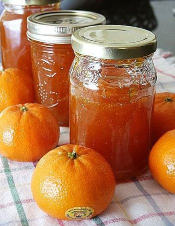 Receia de geleia de tangerina