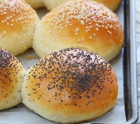Receita de pão caseiro para hambúrguer