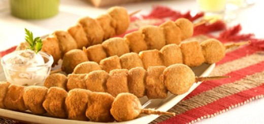 Espetinho crocante de batata