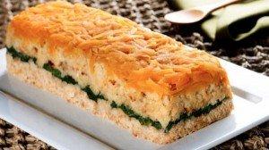 Receita de forma de peixe e vegetais