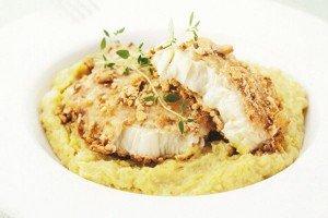 Receita de peixe com purê de batata doce