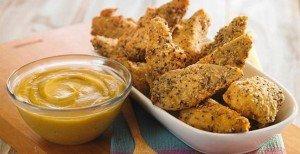 Receita de filezinho de frango empanado com queijo e sementes