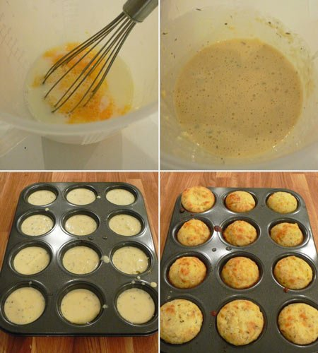 Receita de muffins de queijo