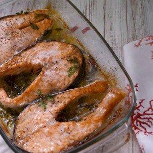 Receita de salmão ao forno