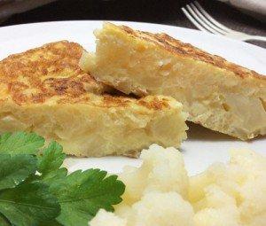 Receita de tortilha de couve-flor
