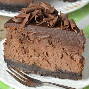 Cheesecake de chocolate triplo