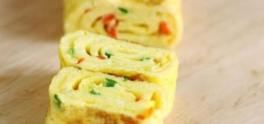 Receita de rolinho de omelete