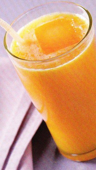 Receita de suco de mamão e laranja